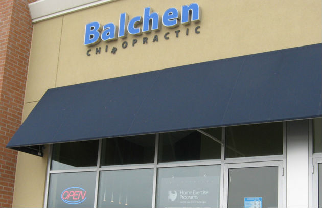 Balchen Chiropractic Entrance Sign